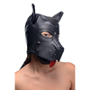 Strict Leather Puppy Play Masker Met Oren En Tong