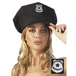 Zwarte politie pet