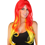 Red And Yellow Party Wig