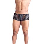 Zwarte short met doorzichtige strepen