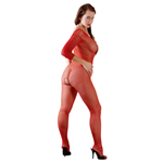 Catsuit red One Size