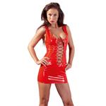 Sexy rood lak jurkje