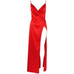 Satijnen jurk - rood