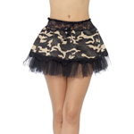 Fever Petticoat - Camouflage print met strik