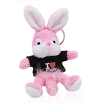 Sleutelhanger Naughty Bunny - Zwart