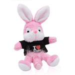 Naughty Bunny Magneet - Zwart