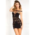 Big Spender naadloze jurk van netstof