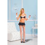 Sexy Secretaresse Kostuum - Zwart/Wit