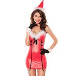 3-delig Kerstjurkje - Christmas Dress Red
