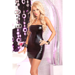 Stoere tube mini jurk met glanslaag
