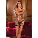 Diamond net tube dress