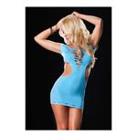 Blauwe omkeerbare mini jurk