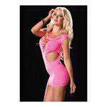 Roze omkeerbare mini jurk