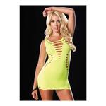 Gele omkeerbare mini jurk