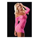 Roze mini jurk met gaten
