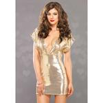 Gouden glitter jurkje