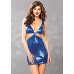 Blauw glitter jurkje