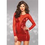 Rood pailetten jurkje
