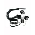 Strict Leather Black Bondage Set