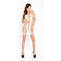 Doorzichtig wit jurkje met open zijkanten