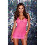 Roze kanten mini jurk