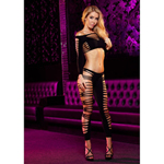 Zwarte Top en Legging Set