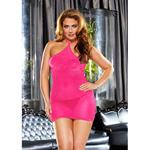 Glitter Mini Plus Size Jurkje - Roze