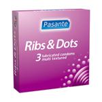Pasante Ribs & Dots Kondome 3 Stück