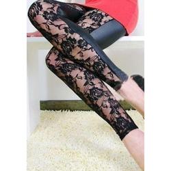 Zwarte Legging met kant