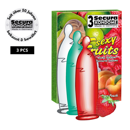 Secura Sexy Fruits Condooms - 3 Stuks