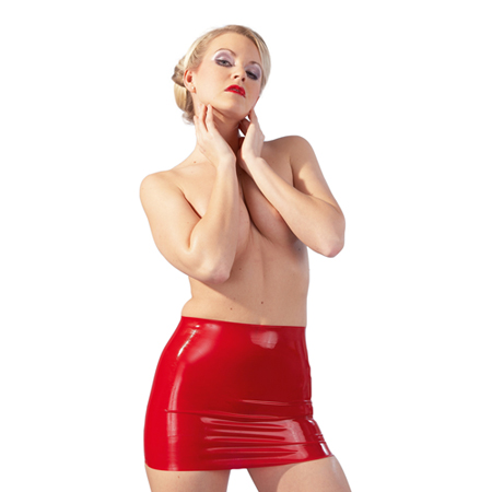 Latex-Minirok Rood