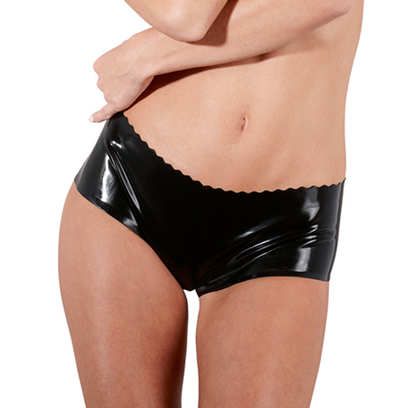 Latex dames slip met V-inkeping