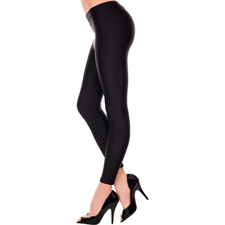 Basic Lange Legging - Zwart