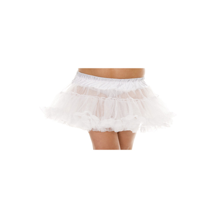 Plus Size Petticoat - Wit