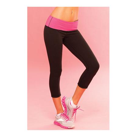 Zwart met roze yoga broek