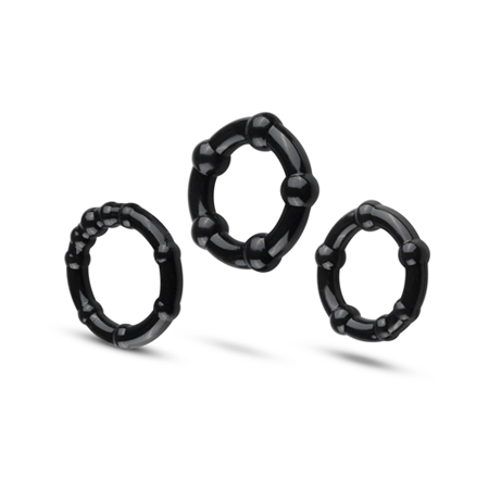 Cockring Set Super Stretch - Zwart