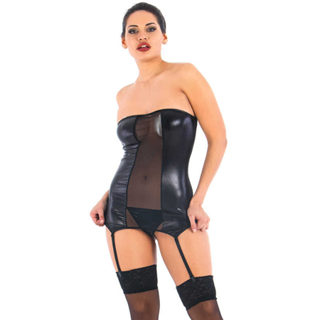 Vixson Strapless Wetlook Jarretel Set
