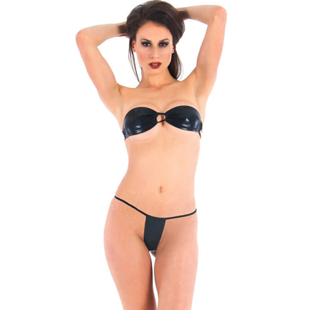 Vixson Strapless Wetlook Mini BH-Set