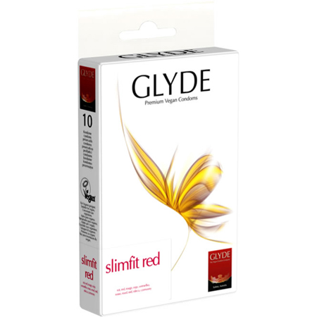 Glyde Ultra Slimfit rood - 10 condooms