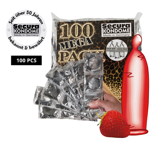 100 Rode aardbeien condooms