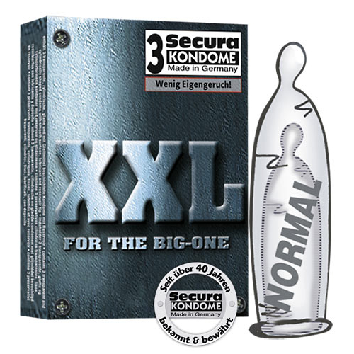 3 Secura XXL Condooms