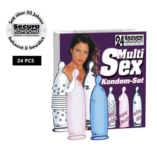 Multi verpakking condooms 24 stuks