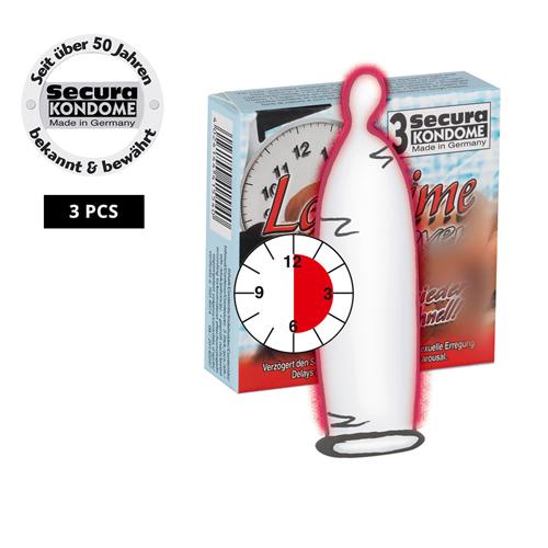3 Condooms met vertragend glijmiddel