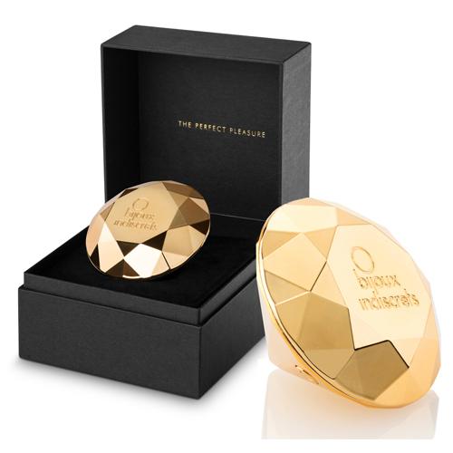 Opleg Vibrator Diamant - Goud
