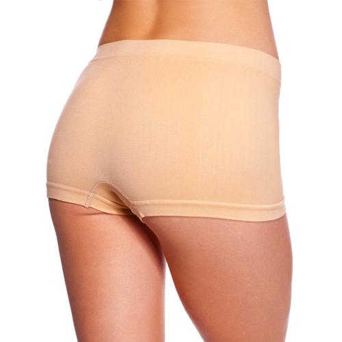 Naadloze beige boyshort Crème – Music Legs