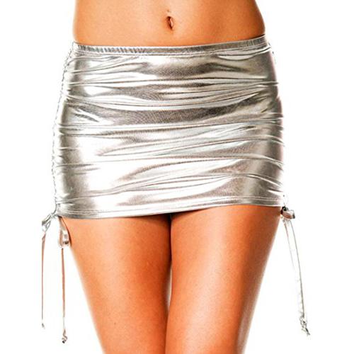 Zilver metallic mini rokje – Verstelbaar Zilver – Music Legs