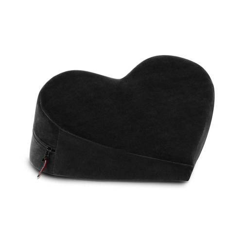 Heart Wedge Positiekussen - Zwart