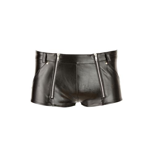 Door deze nauwsluitende boxershort van imitatieleer te dragen creëer je een verleidelijke uitstraling. hij ...