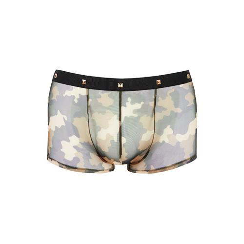 Boxer Met Goudkleurige Studs En Camouflageprint Groen – Svenjoyment Underwear
