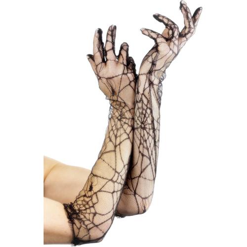 Handschoenen Met Spinnenwebprint Zwart – Fever